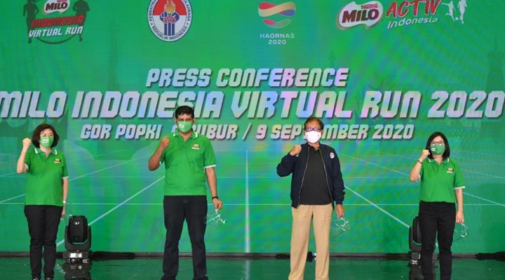MILO Indonesia Virtual Run Melombakan Kategori Individu 10K dan Family Run 3K
